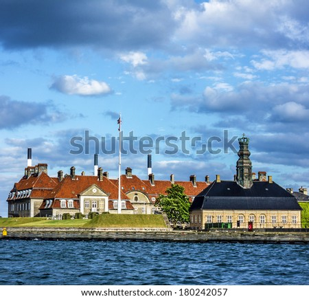 Copenhagen seafront, Denmark cityscape  - stock photo