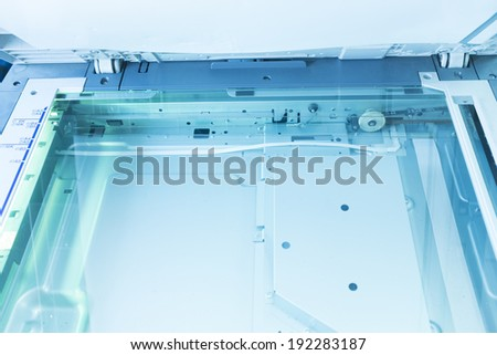 copier with a bright light inside  - stock photo