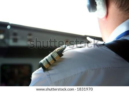 copilot shoulder uniform - stock photo