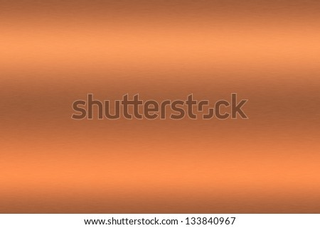 Copper brushed metal as background - stock photo