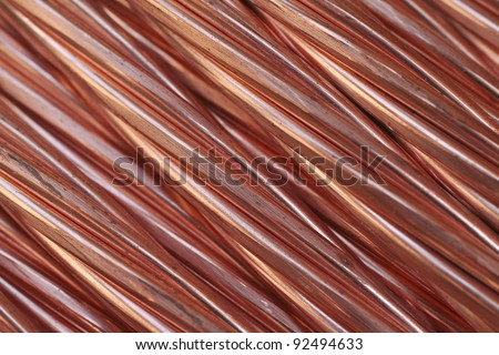 Copper cable texture - stock photo