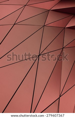 copper facade - stock photo