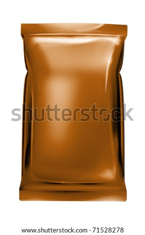 copper foil bag package - stock photo