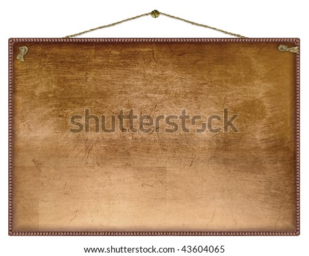 copper frame - stock photo