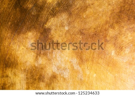 Copper metal background cloudy and scratchy - stock photo