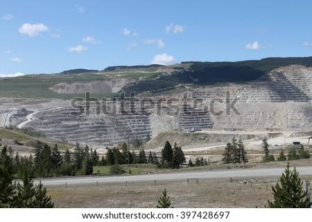 Copper mining - stock photo