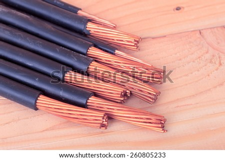 Copper on Wood - stock photo