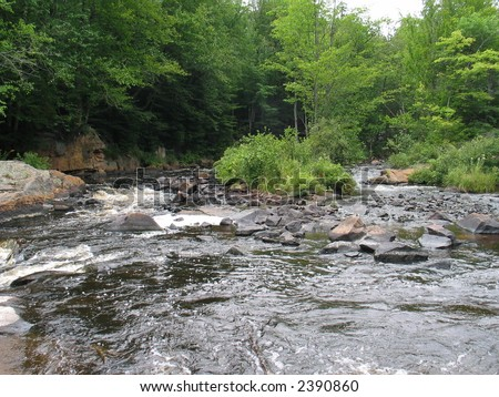 copper rocks falls - stock photo