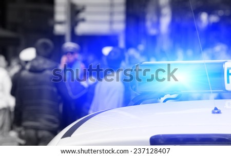 Cops at work. - stock photo