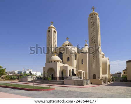 Coptic Orthodox Church all saints who live in Heavens (El Samaaeyeen) - stock photo