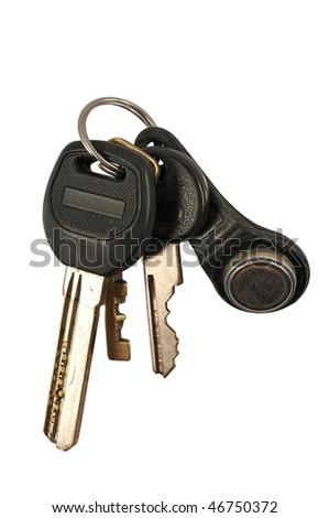 Copula of the keys, isolation on a white background - stock photo