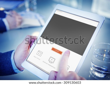 Copy Space Blank Symbol Text Concept - stock photo