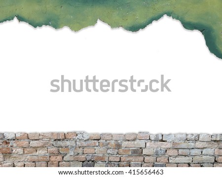 Copy space for text on brick wall background - stock photo