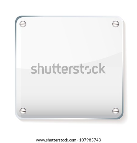 Copy space for your company name on glass plate with shadow - stock photo
