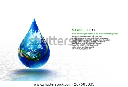 Copy Space in Earth day concept.Elements of this image furnished by NASA - stock photo