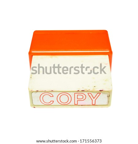 Copy stamp isolated on white background - stock photo