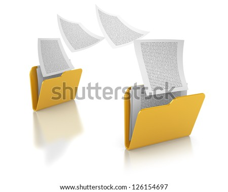 Copying files between folders - stock photo