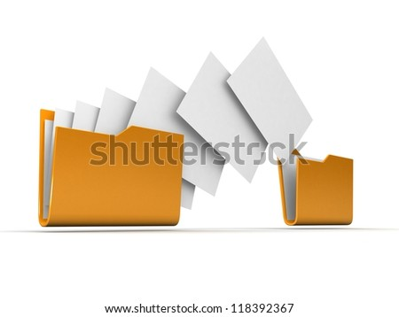 Copyng documents from folder. - stock photo