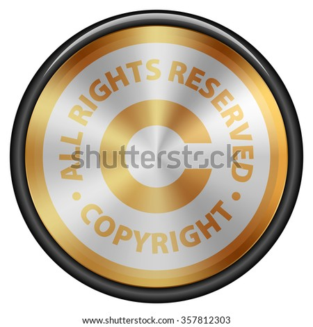 Copyright button icon - stock photo