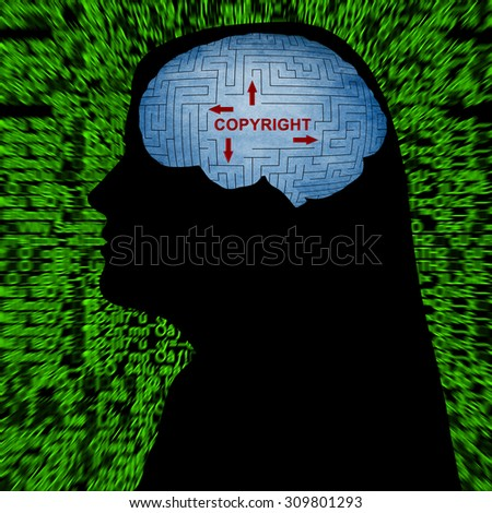 Copyright in mind - stock photo