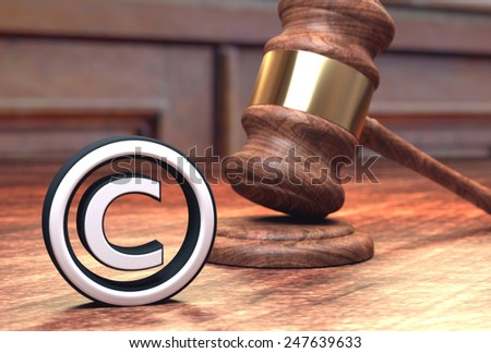 Copyright infringement court trial - stock photo