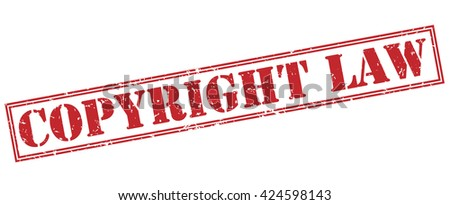 copyright law stamp - stock photo