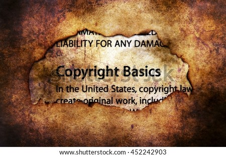 Copyright on paper hole grunge background - stock photo