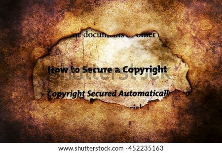 Copyright on paper hole grunge concept - stock photo