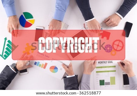 COPYRIGHT Teamwork Business Office Working Concept - stock photo