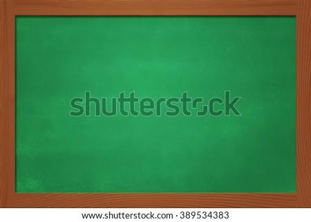 Copyspace Green Chalkboard Background - stock photo