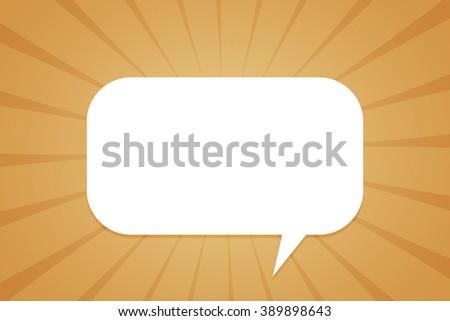 Copyspace Speech Bubble - stock photo