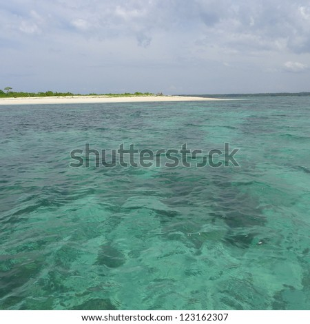 Coral Island - stock photo