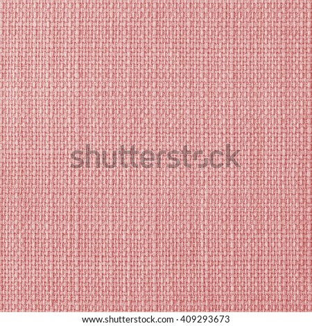 Coral red fabric texture. Close up, top view. - stock photo