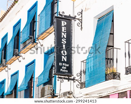 CORDOBA, SPAIN - MAY 08: typical street on May 08, 2015 in Cordoba, Spain. The historic centre was named a UNESCO World Heritage Site. - stock photo