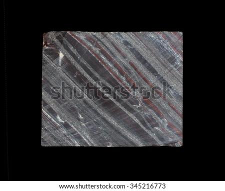 Core a rock formation Quartzite  magnetite-hematite - stock photo