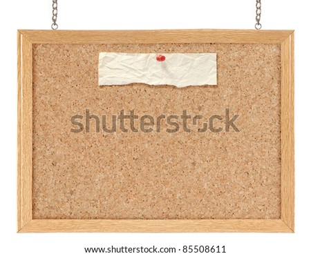 Cork board isolated over white background - stock photo