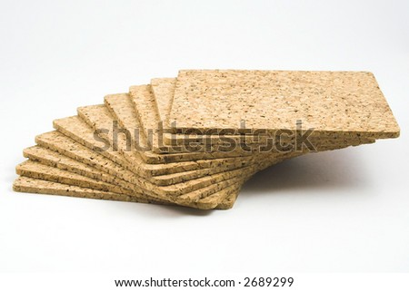 cork boards isolated on white - stock photo