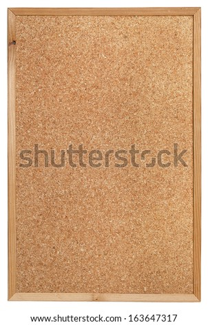 Cork bulletin board for reminders and notes. - stock photo
