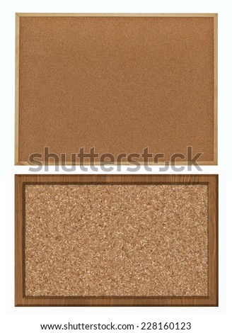 cork bulletin board, set - stock photo