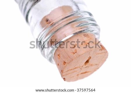 cork in the bottle - stock photo