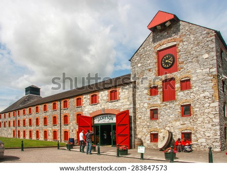 CORK, IRELAND - JUNE 20, 2008:  The Jameson Heritage Center  in Midleton Co. Cork, 12 miles east of Cork City on the main Cork Waterford Road. Old Midleton Distillery is museum of Irish whiskey.   - stock photo