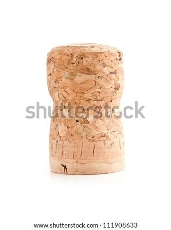cork on a white background - stock photo