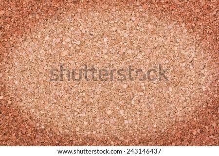Cork seamless brown texture background with darkened edges - stock photo