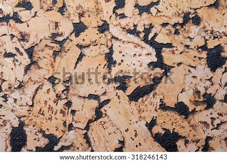 cork wallpaper texture background - stock photo