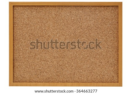 corkboard, bulletin board with a wooden frame - stock photo