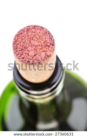 corks in the bottle - stock photo