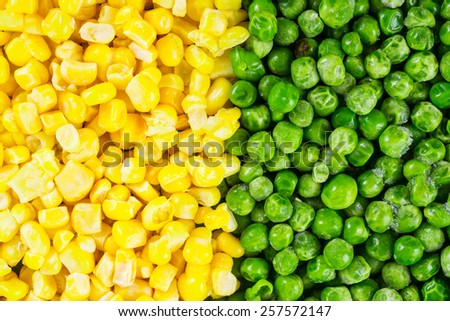 Corn and peas background - stock photo