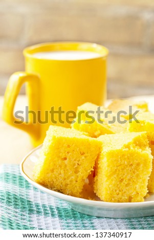 Corn cakes - stock photo