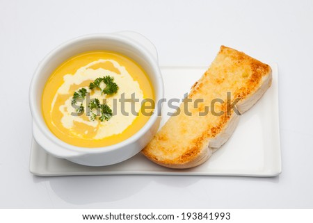corn chowder - stock photo