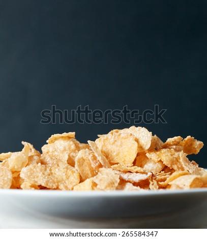 Corn flakes breakfast - stock photo